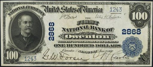 1902 Blue Seal National Currency