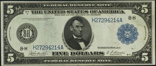 1914_20_Dollar_Bill_Star http://antiquemoney.com/value-of-1914-blue-seal-federal-reserve-notes/