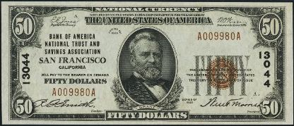 1929 Small Size National Bank Note