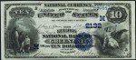 Blue Seal $10 1882 National Currency