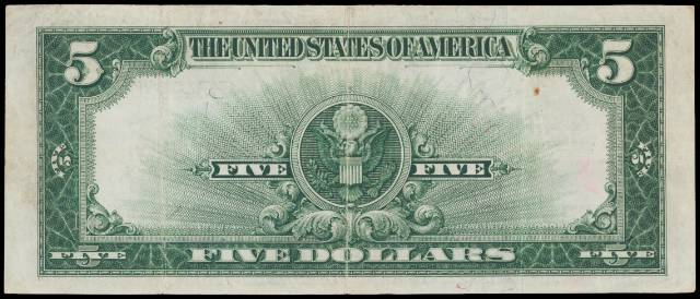 1923 $5 silver certificate in very fine condition