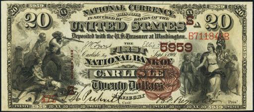 How Much Is A 1889 $20 Bill Worth?