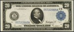 Federal Reserve Note - 1914 Blue Seal - Twenty Dollars