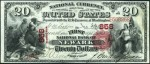 National Currency - First Charter - Twenty Dollars