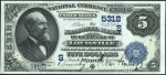 Series of 1882 $5 Blue Seal National Currency