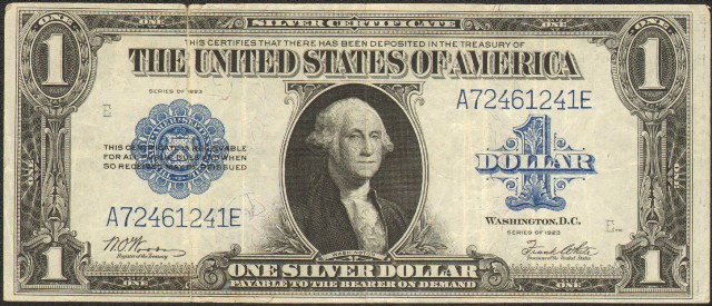 Woods and White $1 Silver Certificate