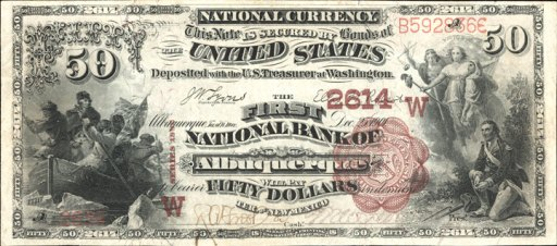 Antique Money – Old Money from The Arizona National Bank Of