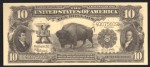 FAKE ALERT:  1901 $10 Bison Serial Number E40075609