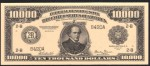 FAKE ALERT:  1918 $10,000 Bill Serial Number B420A