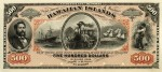 Value of 1879 $500 Hawaiian Islands Certificate of Deposit