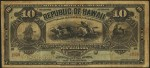 Value of 1895 $10 Republic of Hawaii Silver Certificate