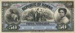 Value of 1895 $50 Republic of Hawaii Silver Certificate