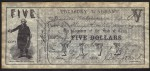 FAKE ALERT:  Texas Five Dollar Treasury Warrant Oct 1, 1862