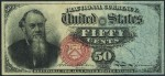 Value of March 3, 1863 Fifty Cents Stanton Fractional Currency